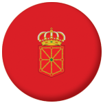 Navarre Flag 58mm Button Badge.